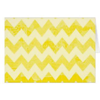 Sunny Yellow Chevron World Card