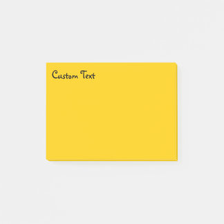 Sunny Yellow | Corner Text Post-it Notes