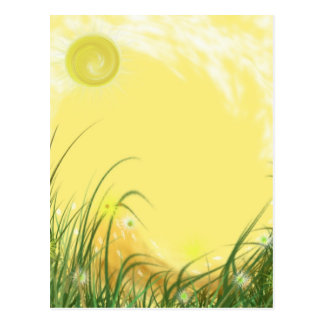 Sunny Yellow Fantasy background Postcard