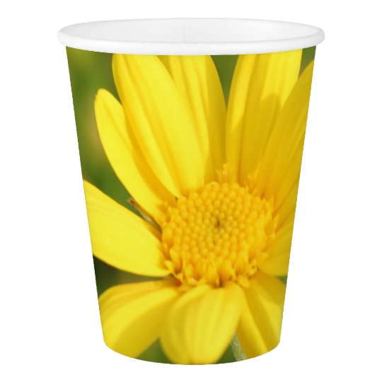 Sunny Yellow Flower Party Paper Cup