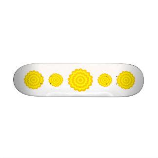 Sunny yellow flower skateboard decks