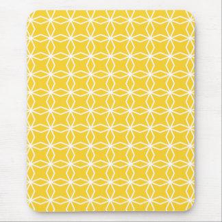 Sunny Yellow Geometric Pattern Mouse Pad