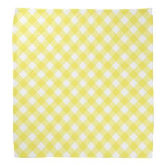 Sunny Yellow Gingham Bandana