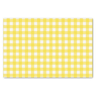 Sunny Yellow Gingham Checked Pattern Tissue Paper