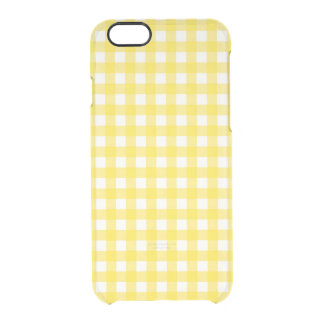 Sunny Yellow Gingham Checkered Pattern Clear iPhone 6/6S Case