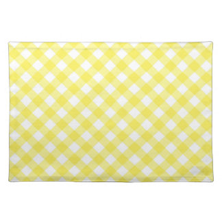 Sunny Yellow Gingham Placemat