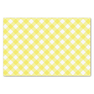 Sunny Yellow Gingham Tissue Paper