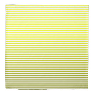Sunny Yellow Ombre Stripe Duvet Cover