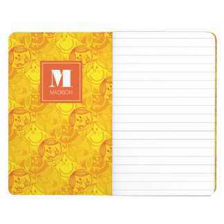 Sunny Yellow Pattern | Add Your Name Journal