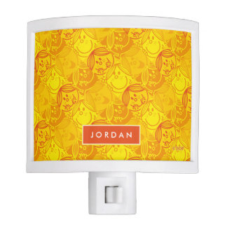 Sunny Yellow Pattern | Add Your Name Nite Lights