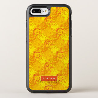 Sunny Yellow Pattern | Add Your Name OtterBox Symmetry iPhone 8 Plus/7 Plus Case