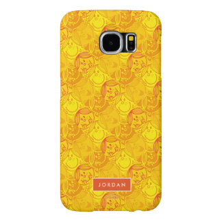 Sunny Yellow Pattern | Add Your Name Samsung Galaxy S6 Case