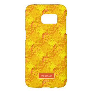 Sunny Yellow Pattern | Add Your Name Samsung Galaxy S7 Case