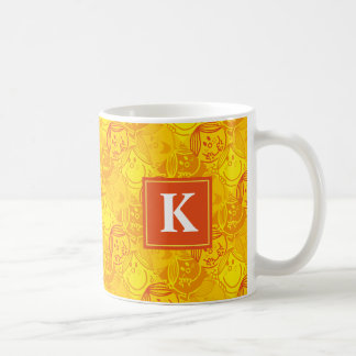 Sunny Yellow Pattern | Monogram Coffee Mug