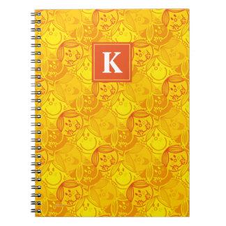 Sunny Yellow Pattern   Monogram Notebooks