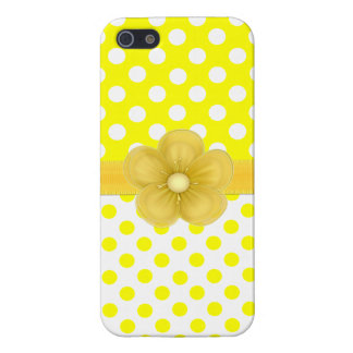 Sunny Yellow Polka Dot iPhone 5 Case