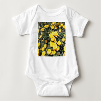 Sunny Yellow Rose Flowers Bus Baby Bodysuit