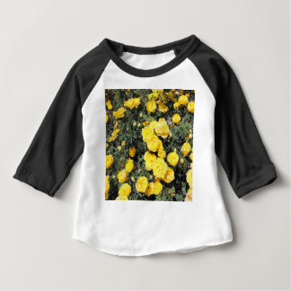 Sunny Yellow Rose Flowers Bus Baby T-Shirt