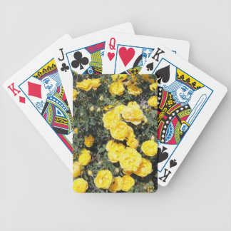 Sunny Yellow Rose Flowers Bus Bicycle Playing Cards