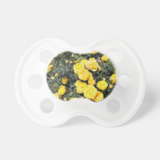 Sunny Yellow Rose Flowers Bus Pacifier