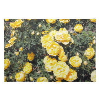 Sunny Yellow Rose Flowers Bus Placemat