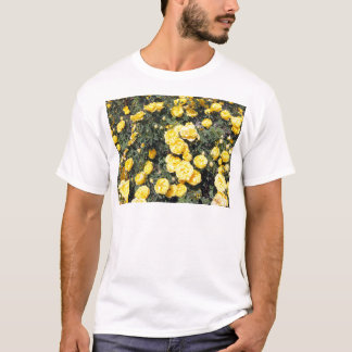 Sunny Yellow Rose Flowers Bus T-Shirt