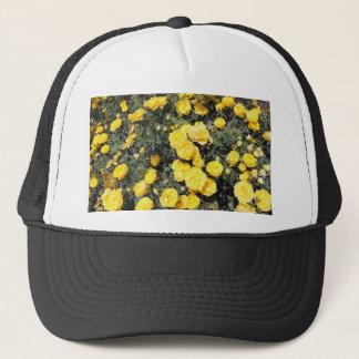Sunny Yellow Rose Flowers Bus Trucker Hat