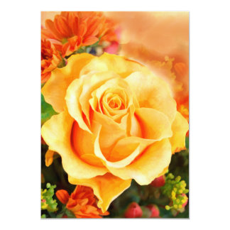 Sunny Yellow Rose in Bouquet Card