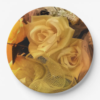 Sunny Yellow Rose Paper Plates