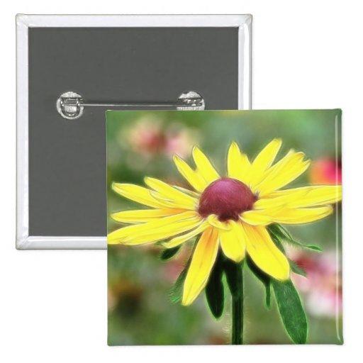 Sunny Yellow Rudbeckia Button
