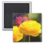 Sunny Yellow Spring Flowers Magnets