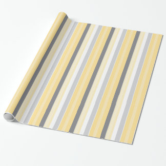 Sunny Yellow Stripes Wrapping Paper
