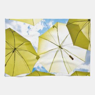 Sunny Yellow Umbrellas Towel