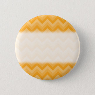 Sunny Yellow Zig Zag Pattern. 2 Inch Round Button