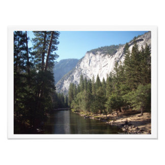 """Sunnyside of the River"" Yosemite Valley Poster"