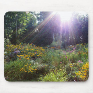 Sunrays in Late September Gardens Mouse Pad