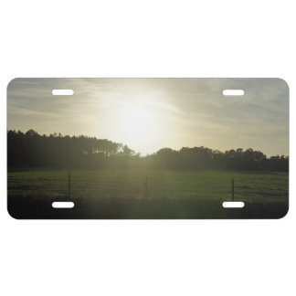 Sunrays on a Back Road License Plate