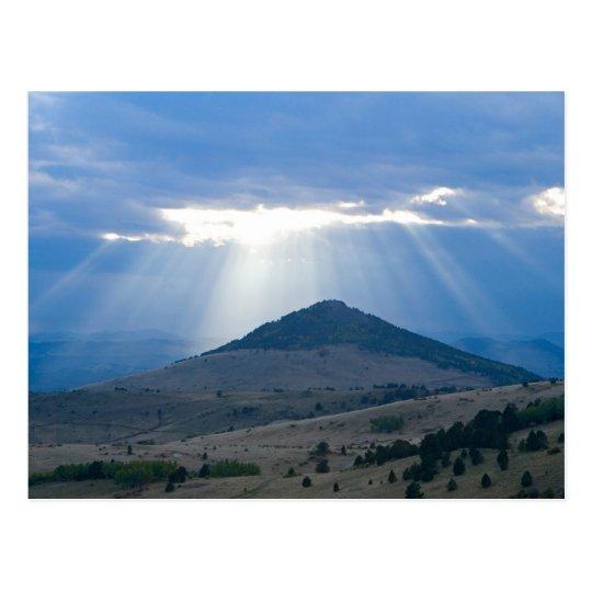Sunrays over Peak Postcard