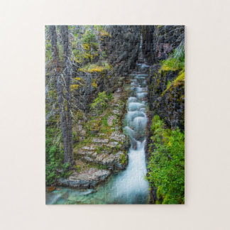 Sunrift Gorge In Glacier National Park, Montana 2 Jigsaw Puzzle