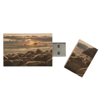 sunrise-1239727 wood USB 2.0 flash drive
