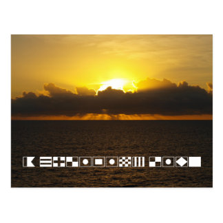 "Sunrise ""A Cruising Life"" Spelled In Signal Flags Postcard"