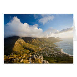 Sunrise Above Camps Bay And Table Mountain Card
