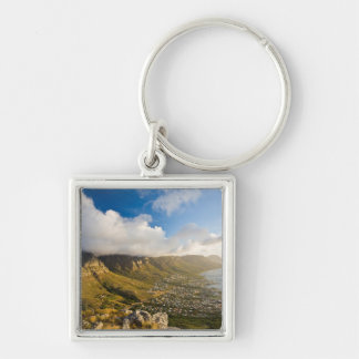 Sunrise Above Camps Bay And Table Mountain Silver-Colored Square Keychain