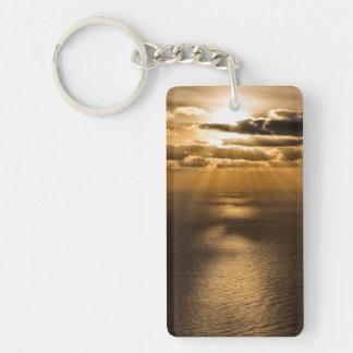 Sunrise above the Atlantic ocean Acrylic Keychain