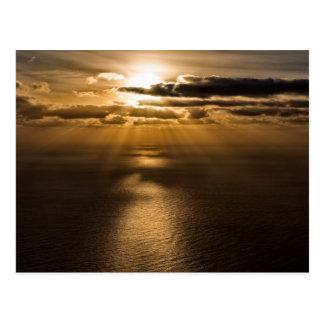 Sunrise above the Atlantic ocean Postcard