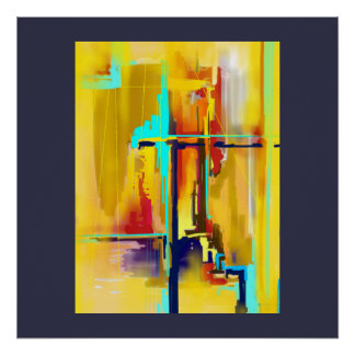 """Sunrise"" Abstract Art Poster"