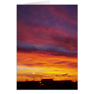 Sunrise Airplane Departure Card