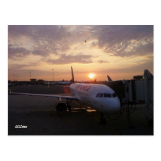 Sunrise, Airplane Postcard