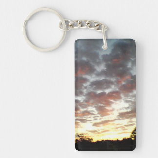Sunrise and Clouds Keychain