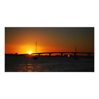 Sunrise and Sunset photos Picture Card